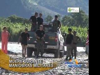 Comando muere en rio Huallaga durante maniobras militares