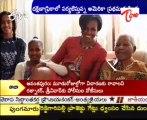 Michelle Obama visits ex president Nelson Mandela