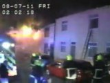Footage captures moment house explodes
