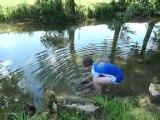 Séjour pêche jeunes carpe relachée