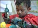 les enfants des PMI à l'école d'arts plastiques