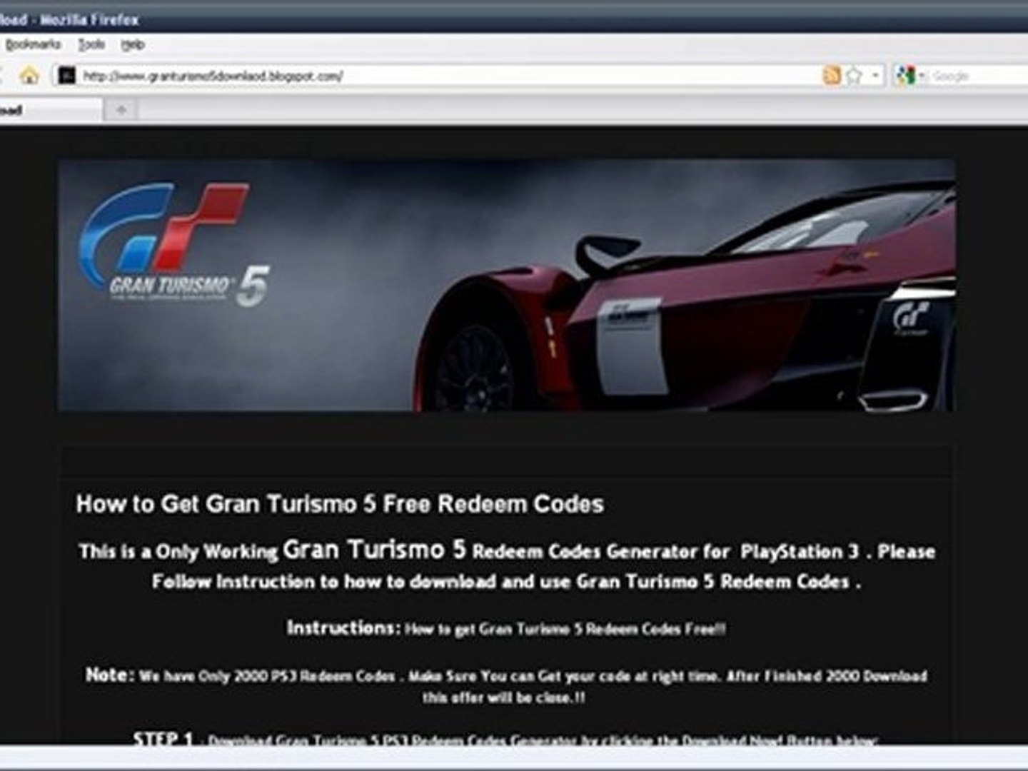 How To Download Gran Turismo 5 Free On PS3 (Redeem Code)