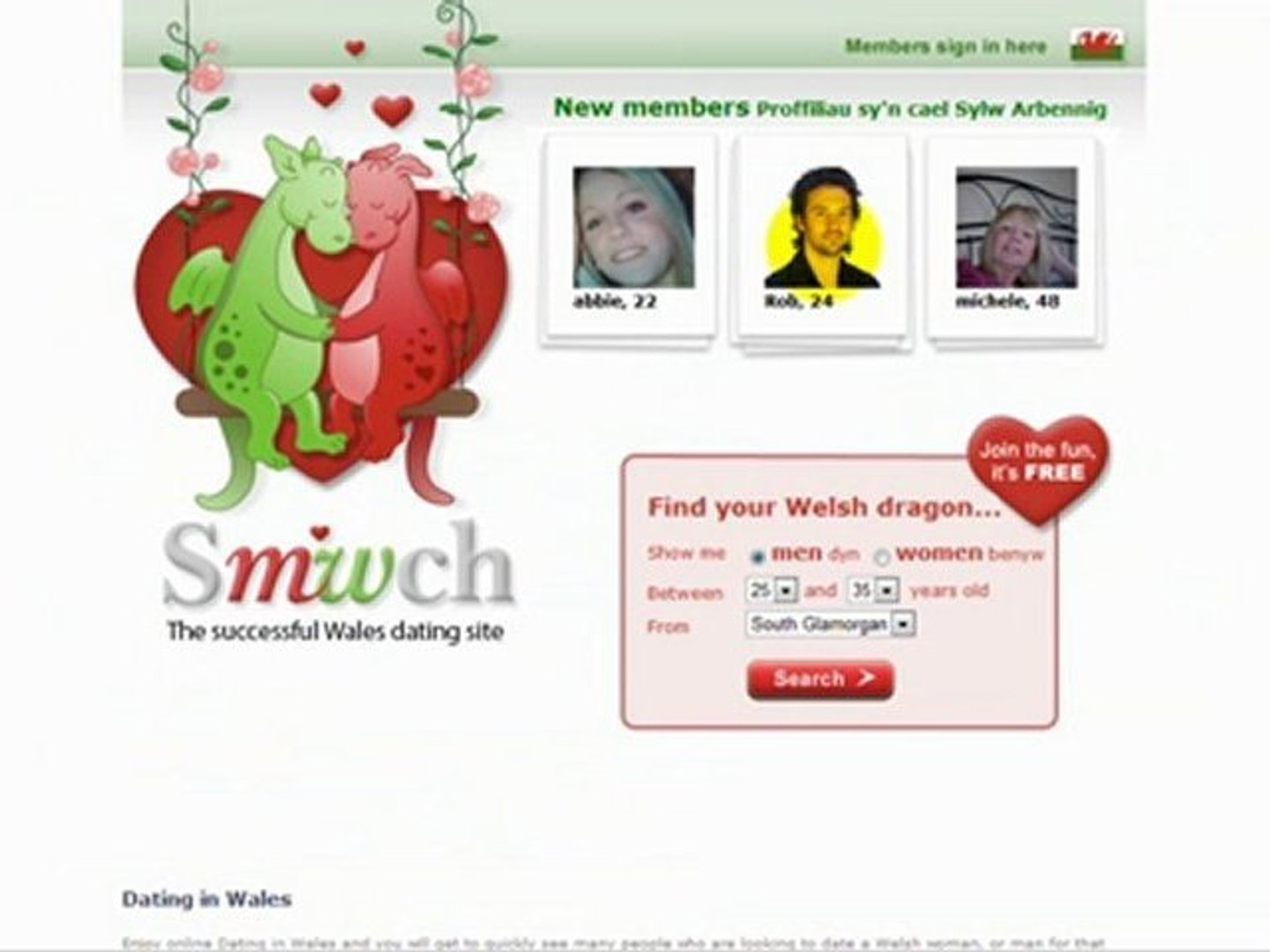 free dating site in wales