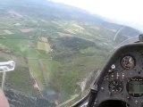 vol de pente en planeur à Aubenasson (pente Sud)