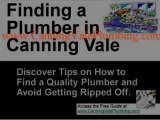 Choosing Plumbers in Canning Vale and plumbers services