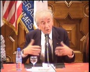 Elie Wiesel - intervention au C-U-M Nice - partie 1