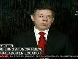 Gobierno colombiano anuncia nuevo embajador de Ecuador
