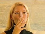 Giulia Siegel smoking