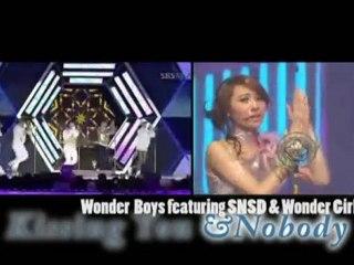 Wonder Boys+SNSD+Wonder Girls   Kissing You  Nobody