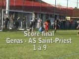 Match amical Genas-AS Saint-priest le 13-11-2010