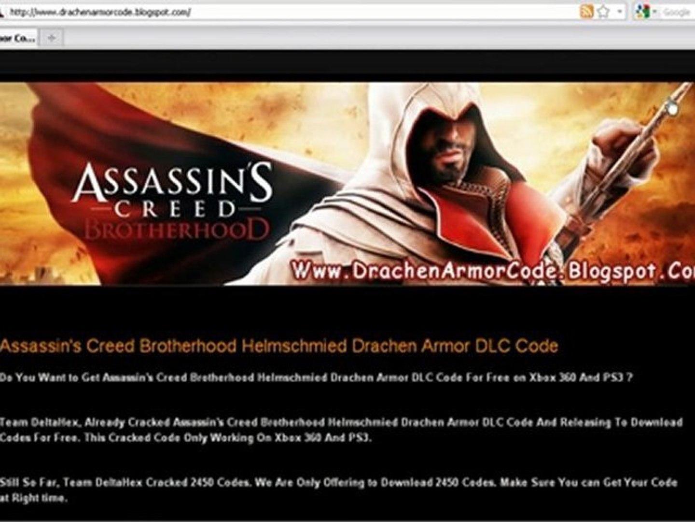 Assassin's Creed Brotherhood Helmschmied Drachen Armor Code
