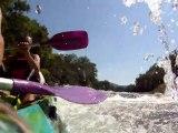 En canoë kayak sur la rivière Lot