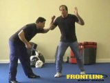 Knife Defense Krav Maga (FrontLine) Posturing knife attack