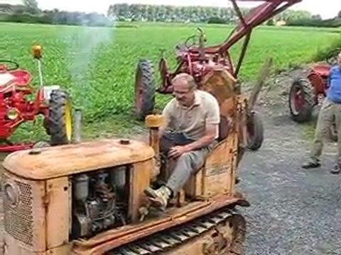 Le tracteur chenillard vigneron TC25 avant restauration