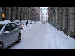 La neige envahit Chambéry