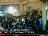 En Egipto la oposición denuncia fraude en Elecciones Parlamentarias