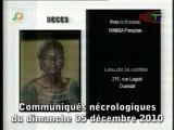 Communiqués nécrologiques du 05-12-10
