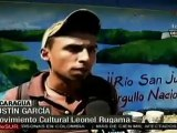 Con murales y radios, jóvenes nicaragüenses refieren al conflicto limítrofe