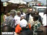 Les parlementaires de l'UE visitent le port de Brazzaville