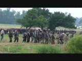 Gettysburg Civil War Reenactment.  Staging for battle.