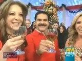 Edith González graba promos navideños de TV Azteca