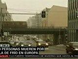 Aumentan los muertos y el caos por la ola de frío en Europa