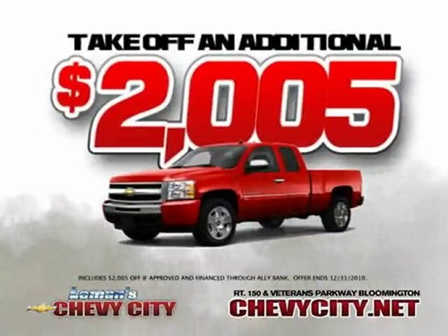 2011 Chevy Silverado-Bloomington IL-Leman's Chevy City