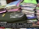 Correa visitó Venezuela y entregó ayuda humanitaria