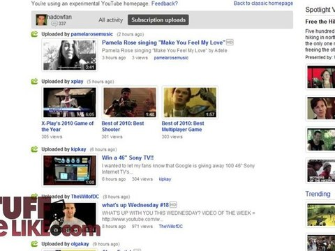 New Youtube Homepage Video Dailymotion