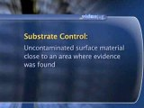 Collecting Evidence At A Crime Scene : What is 'substrate control' in CSI?