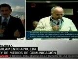 El Parlamento aprobó la Ley de Telecomunicaciones rechazada por la oposición de Venezuela