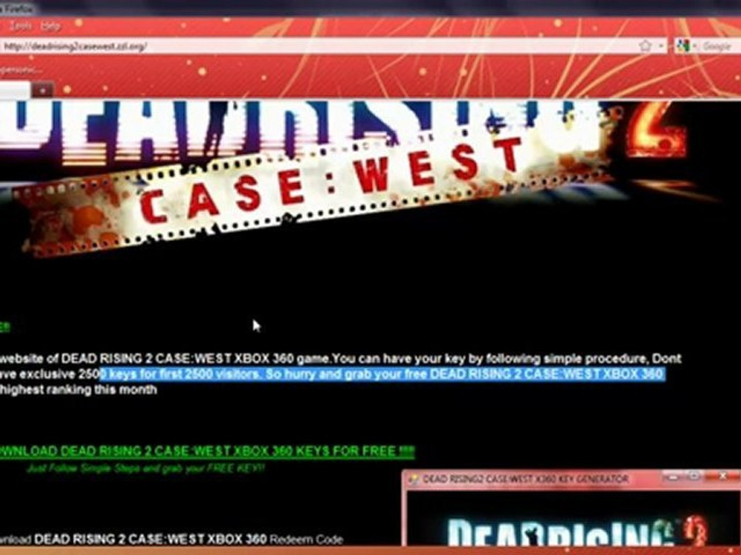 Download Dead Rising 2 Case West Xbox 360 Cd Keys 100 Real