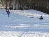 Gamelle dans la neige