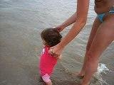 Laly à la plage