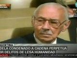Ex dictador argentino Jorge Videla fue condenado a cadena perpetua