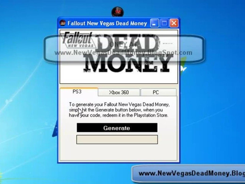 Fallout New Vegas Dead Money DLC Code Generator For Free