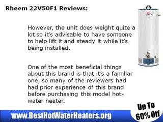 Rheem 22V50F1 Gas Water Heater - video dailymotion