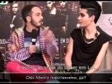 23.11.2010 - Tokio Hotel interview on MTV Brazil с рус. суб.