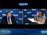 Jean Luc Mélenchon Président du Parti de Gauche VS Demorand