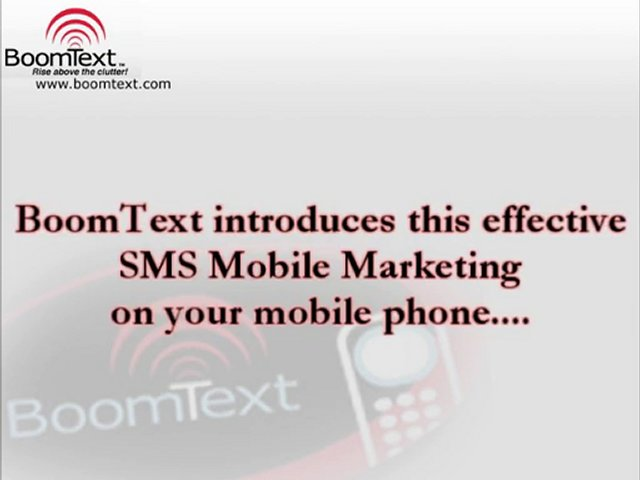 Effective SMS Mobile Marketing