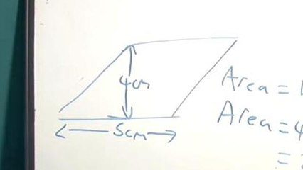 How To Solve For The Area Of A Parallelogram