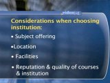 Choosing An Institution : What should I consider when choosing an institution?