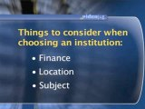 Choosing A University : What should I consider when choosing an institution?