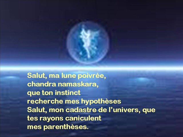 CHANDRA NAMASKARA (terme sanskrit).
