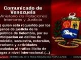 Venezuela expulsa a colombiano acusado de terrorismo