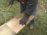 How to Build a Pergola - 8.Trace Pattern to Beams Pergola