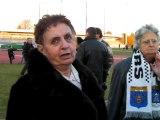 Les supporters damiers réagissent après USRP - Béziers