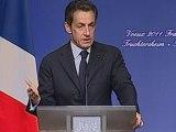 """Lapsus de Sarkozy: """"Allemagne"""" au lieu d'""""Alsace"""""""