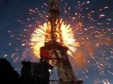 Feu d'artifice Tour Eiffel le 14 juillet 2009 Part 2
