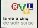 RTL9 2 Août 1996 Teaser été, 1 pub et 3 B.a